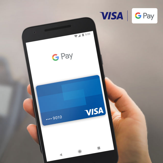 Visa Checkout with Google Pay on phone