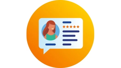 Icon representing online reviews